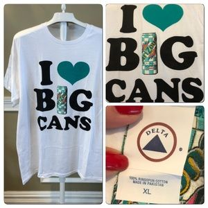 Vtg Arizona Ice Tea I ❤️ Big Cans Tee